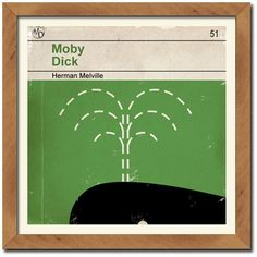 vintage moby dick book cover