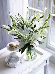 White Garden Vase Arrangement