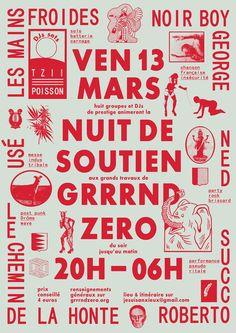félicité landrivon poster design layout typography red