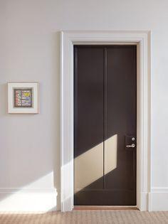 Black Doors - Park and Oak Interior Design Interior Design Magazine, Interior Design Studio, Interior Trim, Interior And Exterior, Interior Office, Modern Interior, Entry Doors, Wood Doors, Sliding Doors