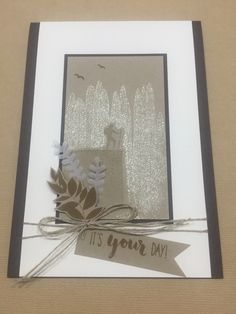 Stampin Up, Seize the Day, male cards, shimmer paint Seize The Days, Masculine Cards, Stamping Up, Stampin Up Cards, Graduation, Card Making, Neutral, Templates, Black And White