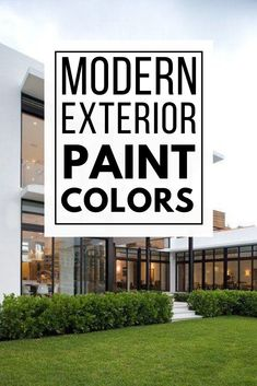 Update your home's exterior with these perfect modern exterior paint color schemes! These modern exterior paint color combinations will inspire you to paint your home with colors that complement each other! Best House Colors Exterior, Exterior Paint Color Combinations, Best Exterior Paint, Modern Color Schemes, Paint Color Schemes, House Paint Exterior, Exterior Paint Colors, Modern Colors, Modern Exterior