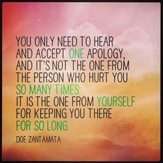 My sentiments all along. I do not need to forgive him or his behaviors to heal. Recovery from narcissistic discard