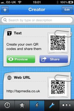 Read AND create your own QR codes from your iOS device!