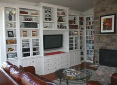 Custom Cabinets - Entertainment Center - Media TV Center - traditional - family room - dc metro - Contemporary Woodcrafts, Inc. Built In Entertainment Center, Entertainment Room, Built In Cabinets, Custom Cabinets, Media Cabinets, Tv Center, Traditional Family Rooms, American Traditional, Built In Bookcase