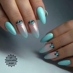 Pink Nail Art, Blue Nails, Glitter Nails, Cool Nail Designs, Acrylic Nail Designs, Nail Manicure, Gel Nails, Mickey Nails, Natural Acrylic Nails
