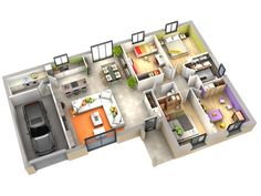 Looking for a Maison Interieur Plan. We have Maison Interieur Plan and the other about Maison Interieur it free. 3d House Plans, Small House Floor Plans, 4 Bedroom House Plans, Dream House Plans, Sims 4 House Design, Bungalow House Design, Facade House, Home Design Plans, House Layouts
