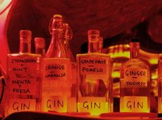 Although a gin tonic is the drink to order nowadays in Barcelona, I have never been a big fan. It all comes to choosing the right gin, appar. El Born Barcelona, Gin Bar, Gin And Tonic, Whiskey Bottle, Brewing, Spain, Drinks, Cozy, Big