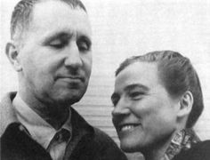Brecht and Berlau - she met Bertolt Brecht when, along with his wife and two children, he was exiled in Denmark. She became his collaborator and lover and left everything to accompany him for the rest of his life: in exile in Sweden, Finland, the Soviet Union and finally in the United States before returning to Berlin. She worked as his secretary, assistant, director's assistant, translator, and photographer and was responsible for creating the Brecht Archive.