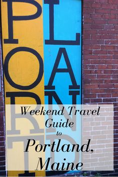 Visit Portland Maine! Things to do, places to eat, and places to drink. 3 days of weekend adventures!