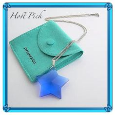"4 X HP RARE T & Co. Blue Crystal Star Necklace RARE ~ Tiffany & Co. Blue Crystal Star Pendant Necklace Large 13/8"" Pre-Owned Excellent Condition ~ No Chips 100% Authentic Elegant, Exquisite & Gorgeous Tiffany & Co. Blue Crystal Star Pendant with Tiffany & Co. Sterling Silver 18"" Chain  Comes with pouch Blue Crystal Star Pendant measures 1 3/8"" (not including bale) Hallmarked On the side ©T & Co. 925 ❌NO TRADE OR PP❌ Tiffany & Co. Jewelry Necklaces"