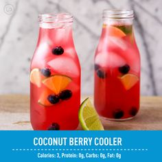 Cool level OUTTA CONTROL with this Coconut Berry Cooler!  Crazy refreshing drinks are our JAM!  Keeps us away from the soda, & honestly...we don't miss it!    Coconut Berry Cooler  6 oz water  10 oz sparkling water, any berry flavor (we used blueberry pomegranate)  1 Coconut Lime IdealBoost Stickpack   -Directions- 1. Mix water, sparkling water, and IdealBoost until powder completely dissolves.  2. Fill 2 glasses with ice, fill each glass equally, and garnish with fresh lime slices and…