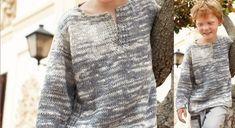 Un pull très tendance à tricoter pour les petits garçons. Avec son col tunisien et ses différents tons de gris, il se porte très facilement au quotidien ! TAILLES: -a) 4 ans -b) 6 ans -c) 8 ...