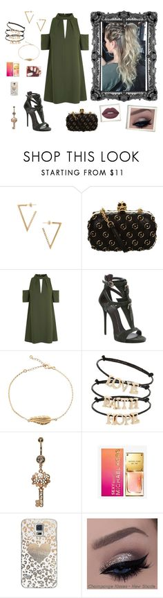 """""""Nr. 71"""" by deromymaus ❤ liked on Polyvore featuring Jeweliq, Alexander McQueen, Topshop, Giuseppe Zanotti, Michael Kors, Casetify and Lime Crime"""