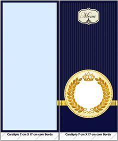Menu Coroa Príncipe Azul Marinho