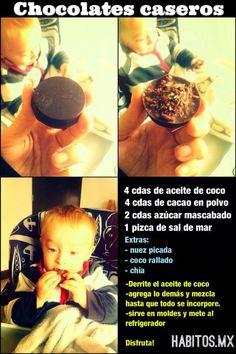¡Chocolates caseros!                                                                                                                                                      Más