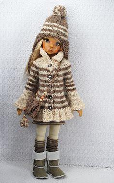 beige6 | Flickr - Photo Sharing! Knitting Dolls Clothes, Knitted Dolls, Girl Doll Clothes, Doll Clothes Patterns, Crochet Dolls, Barbie Clothes, Crochet Clothes, Clothing Patterns, Barbie Kids