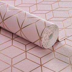 Nouveauté ✨ Venez vite retrouver ce très joli papier peint sur notre site clicjedecore.com ! Une tendance géométrique aux motifs de cubes