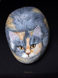 CHATTE+TRICOLORE...Beautiful cat--Beautiful artwork!!