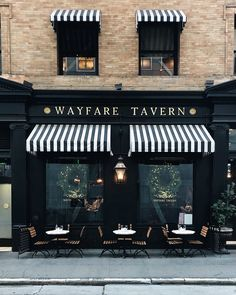 Wayfare Tavern's windows invite us to eat, drink, and be merry. Wayfare Tavern's windows invite us to eat, drink, and be merry. Cafe Shop Design, Coffee Shop Interior Design, Bakery Design, Restaurant Interior Design, Shop Front Design, Bakery Shop Interior, Pub Interior, Pub Design, Facade Design