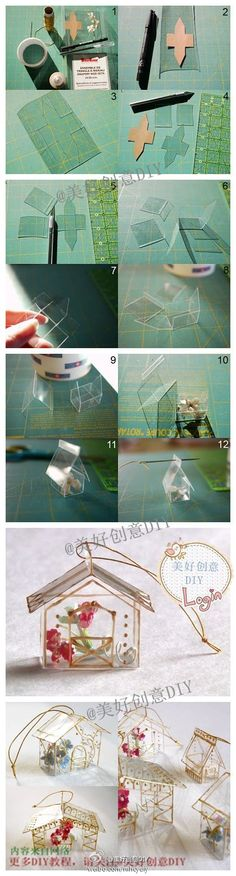 Plastic DIY little house!gift box or baubles for christmas