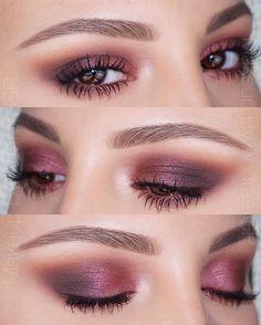 pink and plum smokey eye  ~  we ❤ this! moncheribridals.com