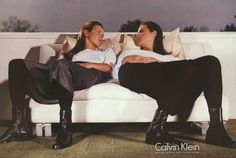 2018/03/01 04:57:12 #KateMoss & #ChristyTurlington for #CalvinKlein S/S #1998 (#90s)