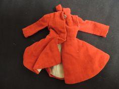 Vintage Skipper Mattel Barbie Original Label 1960's Red Dress Coat A.I.