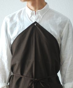 """Ouur by KINFOLK(アウアー バイ キンフォーク) """"Linen Barista Button Apron"""" 