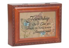 Friendship Woodgrain Cottage Garden Traditional Music Box Plays Thats What Friends Are For * You can find more details by visiting the image link.