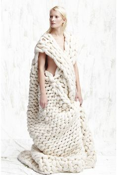 Conceptual Knitwear Design - oversized knitted dress; sculptural fashion; creative knitting // Chiki Miki