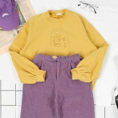 Upside Down Sweatshirt yellow, soft grunge, palegrunge, grunge, aesthetic