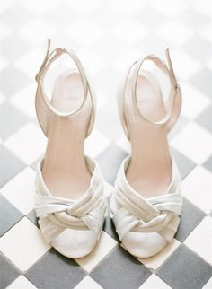 Bridal Shoes A 1940s Wedding Dress for a Sweet Early Summer Wedding from Taylor and Porter