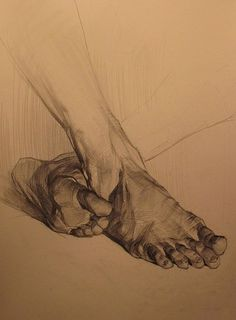 Academic drawing // feet drawing // perspective // old master