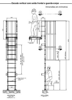 Autocad, Fire Escape, Ladder, Engineering, Stairs, Floor Plans, Civilization, Elevator, Foundation
