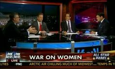 A Fox News panel discussing the 'war on women' featured four men and no women.