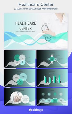100% free template available for Google Slides and PowerPoint you can use in your presentations. Healthcare Careers, Powerpoint Template Free, Best Templates, Slide Design, 100 Free, Presentation Templates, Health Care, Infographic, Typography