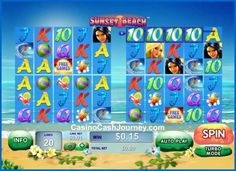 Sunset Beach is a 5-reel, 80 payline Playtech non progressive video slot machine. More this way... http://www.casinocashjourney.com/playtech-slots/sunset-beach.htm