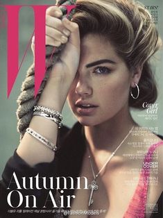 Kate Upton works out for the October 2015 cover story from W Korea shot by Norma Jean Roy