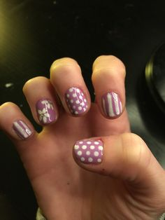 Nail art nail designs Easter spring purple white