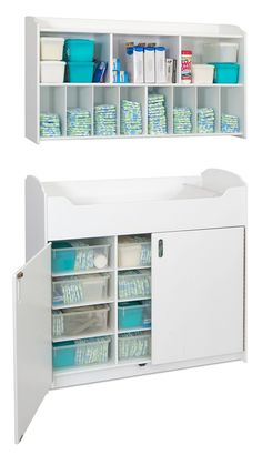 Serenity™ Changing Table - White I would love to have some organization to the diapers!