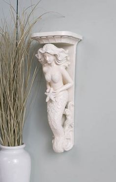 Mermaid Sconce  - $30.00 : Enchanted Cottage Shop, For Gifts Antiques Reproductions Collectables and Home Decor