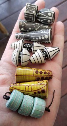 Handcrafted Glass Beads and Jewelry by Patricia Larsen by PLarsenArtGlass Ceramic Jewelry, Ceramic Beads, Polymer Clay Beads, Lampwork Beads, Handmade Beads, Handmade Jewelry, Artisanal, Clay Earrings, Beaded Jewelry