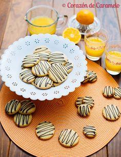Galletas de naranja con chocolate