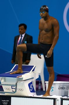 Cullen Jones won a silver medal in the men's swimming 50meter freestyle Day 7 of the London 2012 Olympic Games at the Aquatics Centre on August 3, 2012 in London, England.
