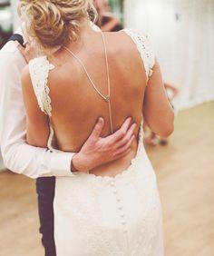 c a m e l l i a -Bridal Jewelry, Back Necklace, Backdrop Necklace, Wedding, Back Chain