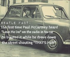 And people wonder why I love him so much. Smooth as f**k, McCartney. I can so see him doing this.  ~you're so lucky.....You must know him really well~