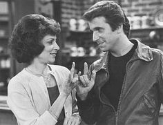 Linda Bove playing Fonze's girl friend on Happy Days!