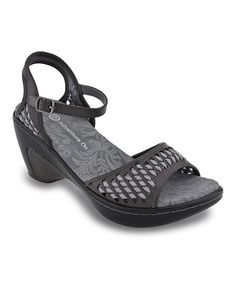 Loving this J-41 Footwear Charcoal Melbourne Sandal on #zulily! #zulilyfinds
