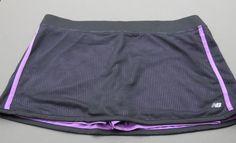 New Balance Skirt Purple / Black Running Athletic Skort Size Large #NewBalance #SkirtsSkortsDresses